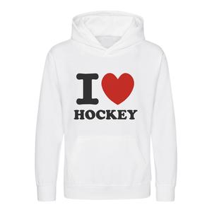 Trui Senior I love Hockey Wit - Rood Hart