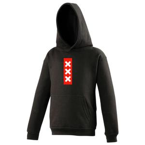 Hooded sweater Amsterdam Zwart